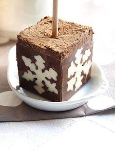 Une fée dans mon panier - Bâton de chocolat spécial Noël pour chocolat chaud