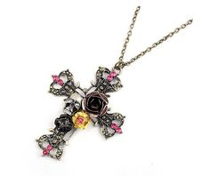 $3.99 Vintage Cross Pendant Chain Necklace at Online Jewelry Store Gofavor