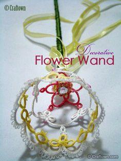 Free Tatting Pattern - Decorative Flower Wand