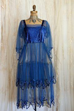 On LAYAWAY /RARE!! 1920s Dress / 20s Metallic Lamé Dress / Panniers / Flapper Costume / Sequin Embellished Dress / Panniers/ Size Small