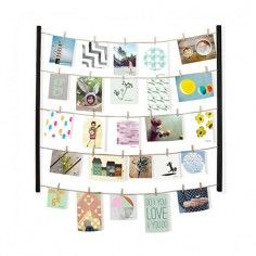 Hangit Photo Display with 40 Clips – Black