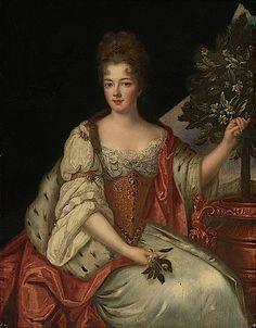ca. 1690 Louise Bénédicte de Bourbon after Gobert (location unknown to gogm)