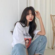 korean makeup looks Pretty Korean Girls, Cute Korean Girl, Asian Girl, Ulzzang Hair, Mode Ulzzang, Korean Makeup Look, Girl Fashion, Fashion Outfits, Fashion Hair