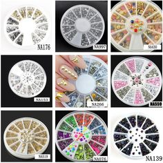 [Visit to Buy] Wholesale Hot 9 Styles Nail Art Tips Decoration Crystal Glitter A B Rhinestone Nail Tools With Wheel NA153 #Advertisement