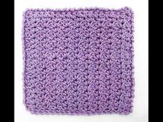 Learn A Stitch Washcloth 3: Mini Shell Stitch