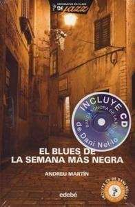 """El blues de la semana más negra. MARTÍN, Andreu. Ed.Edebé. """"El Signo de los Cuatro"""", la joven banda de jazz y blues, se traslada al Norte. La oportunidad de tocar en un local y formar parte de los actos que amenizan la Semana Negra de Gijón parecía una excusa perfecta para divertirse, ensayar y ganar un dinero. Nada hacía presagiar que uno de ellos va a ser  confundido con un asesino.  El libro incluye la banda sonora de la novela.  ETIQUETAS:  Aventuras/Asesinatos/Misterio/Jazz"""
