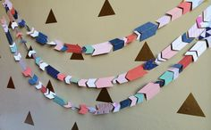 """DIY Simple Sewn """"Pow Wow Party"""" Garland"""