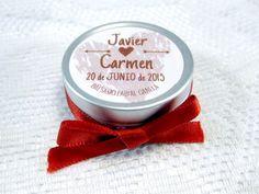 Bálsamo labial boda Javier y Carmen