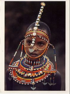 Africa | Masai Bride | Women of the African Ark, 1994 Calendar | ©Carol Beckwith and Angela Fisher