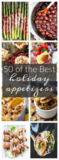 50 of the Best Appetizers for the Holidays