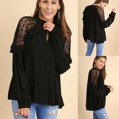 NEW UMGEE USA Cream Ivory Lace Boho Chic Shirt Shortsleeve