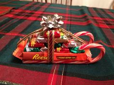 Candy cane sleigh gift.