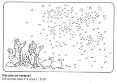 the shepherds in the fields blinded by hemelese army of angels dot to dot Christmas Bible, Christmas Nativity, A Christmas Story, Christmas Colors, Kids Christmas, Christmas Crafts, Sunday School Activities, Church Activities, Sunday School Crafts