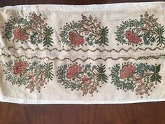 Antique Ottoman-turkish Silk & Gold Metallic Hand Embroidery On Linen Fragm