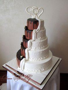Wedding Cake white & chocolate