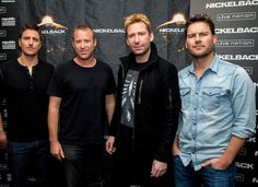 Daniel Adair, Chad Kroeger, Mike Kroeger and Ryan Peake of Nickelback pose at the special announcement and live performance at the House of Blues on the Sunset Strip November 2014 in West. Get premium, high resolution news photos at Getty Images New Album Song, Album Songs, Best Lyrics, Nickelback Songs, Hollywood Scenes, West Hollywood, Chad Kroeger, Rock Outfits, Photo L