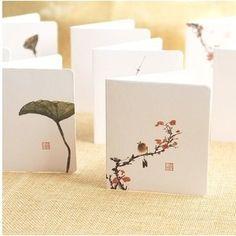 創意簡約古典中國風祝福賀卡商務卡留言卡新年聖誕節賀卡小卡片
