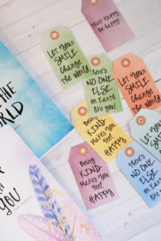 Printable Backpack Tags with inspirational sayings - good for bookmarks and lunch box notes too!