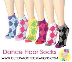Dance Floor Party Socks - Preppy Argyle Pattern