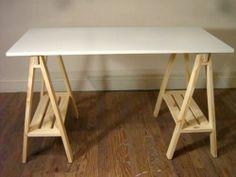 escritorio blanco-madera