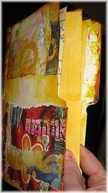 File Folder art journal! I didn't find this example but there is lots of fun stuff to explore.