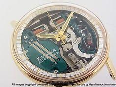 1960s RARE 18K Gold Bulova Accutron Spaceview 214 Vintage Mens Watch | eBay