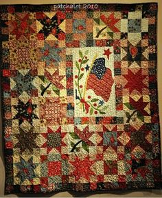 quilt with flag
