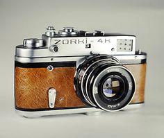 Zorki 4K ( Leica replicate ) Brown Skin / 35mm Film Rangefinder / LightBurn Refurbished Camera / 55mm f2.8 lens / Price drop from £95 to £79.99