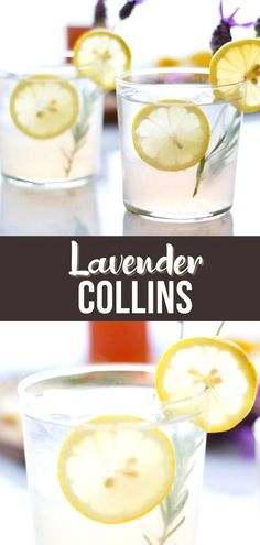 This refreshing Lavender Collins is a fresh twist on a Tom Collins cocktail, with homemade lavender syrup, gin, lemon juice and a splash of sparkling water. Refreshing Cocktails, Classic Cocktails, Fun Cocktails, Holiday Cocktails, Cocktail Drinks, Amazing Recipes, Yummy Recipes, Yummy Food, Easy Smoothies