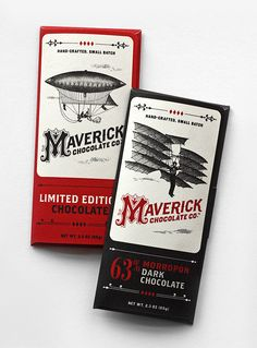 Love the old school illustration and 'M' in Maverick. Gives the packaging a history.