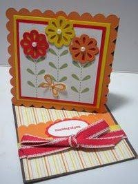 Twisted easel card tutorial.