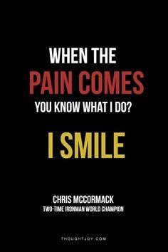 ...I smile...
