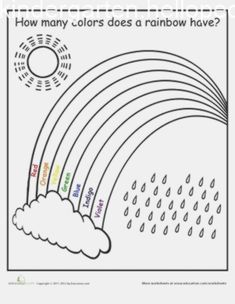 Rainbow Worksheets for Kindergarten. 20 Rainbow Worksheets for Kindergarten. Kindergarten Math Worksheets, Preschool Learning Activities, Free Preschool, Preschool Lessons, Color Activities, Worksheets For Kids, Kids Learning, Preschool Printables, Preschool Forms