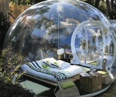 Sleeping under the stars in transparent pods