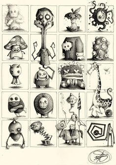 of Sketches made with ballpoint pen on pape. - - Series of Sketches made with ballpoint pen on pape… – -Series of Sketches made with ballpoint pen on pape. - - Series of Sketches made with ballpoint pen on pape… – - Tim Burton Kunst, Tim Burton Art, Tim Burton Style, Tim Burton Sketches, Tim Burton Drawings, Monster Art, Monster Drawing, Monster High, Arte Dark Souls