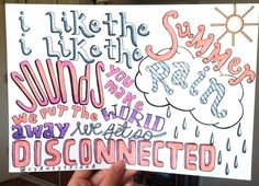 Disconnected- 5SOS lyric drawing.