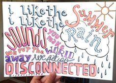 Disconnected- 5SOS lyric drawing.