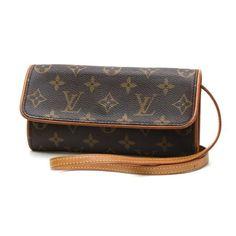 Louis Vuitton Pochette Twin PM Monogram Cross body bags Brown Canvas M51854