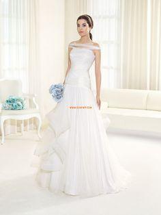 Solo Hombro Invierno Baja Vestidos de novias 2014