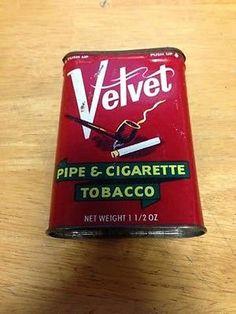 Velvet Pipe & Cigarette Tobacco Tin