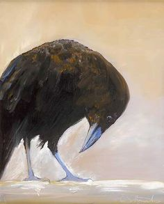 Raven by Marge Mount Simple yet elegant painting