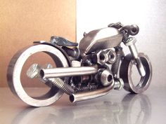 This welded art is nuts (and bolts)   MAKE
