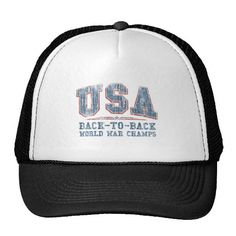 57feb9d9bf9 Usa Baseball   Trucker Hats. Mesh HatsBaseball HatsChampsWorld WarBaseball  ...