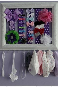 Cute way to organize baby girl's headbands and hair | http://girlaccessorycollections.13faqs.com