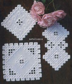 Хардангер \ белый \ салфетки ....................................... - Всем, кто вяжет, дарю старые идеи для новых работ