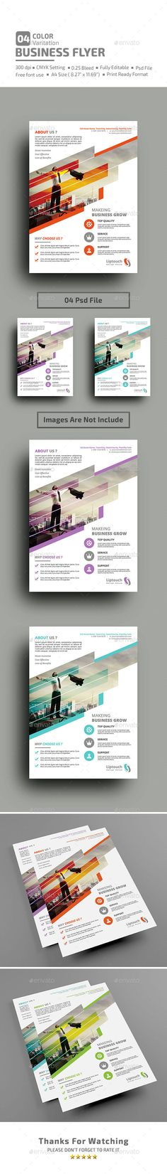"Buy Business Flyer by liptouch on GraphicRiver. Detail A4 (8.27×11.69) psd file CMYK Setting 300 dpi High Resolution Print Size 8.27"" x 11.69"" (0.25..."