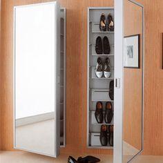 Modern Shoe Cabinet: More Shoe Storage, Storage Boxes, Tall Cabinet Storage, Modern Shoe Rack, Shoe Cabinet Design, Ideas Armario, Home Furniture, Furniture Design, Cabinet Furniture