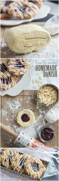 How to Make Homemade Danish Pastry- easy to follow video and recipe on Baking a Moment ~ http://bakingamoment.com