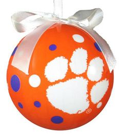 Clemson Polka Dot Ornament