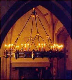 medieval candle chandelier ....